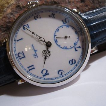 """Serviced """"""""LONGINES"""""""" Marriage Pocket Watch Conversion 17 Jewels"""