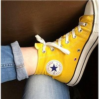 Converse Women Men High-Top Fashion Canvas Flats Sneakers Sport Shoes