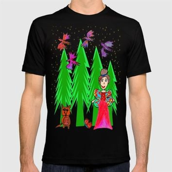Night Fairy | Before Christmas | Kids Painting T-shirt by Azima