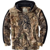 Legendary Whitetails Men's Realtree Camo Casual V-Neck Outfitter Hoodie Realtree AP Large
