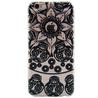 Newest Customized Black Hollow Skull Case Cover for iPhone 7 7 Plus & iPhone 5s se & iPhone 6 6s Plus + Gift Box-463