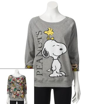 Freeze Peanuts Reversible Pullover Sweatshirt - Juniors, Size: