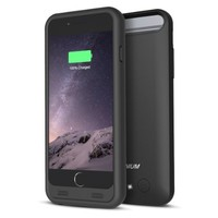 iPhone 6S Battery Case - iPhone 6 Battery Case, Trianium Atomic S iPhone Portable Charger iPhone 6 6S Charging Case[Black][Lifetime Warranty]-3100mAh Battery Pack Juice Bank Cover[MFI Apple Certified]