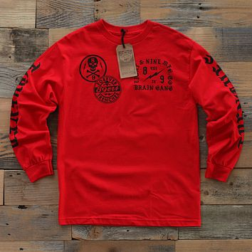 Brain Gang 4 Eva L/S Red