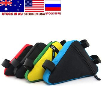 Waterproof Triangle Cycling Bicycle Bags Front Tube Frame Bag Mountain Bike Pouch Frame Holder Saddle Bag New Stock in US,AU