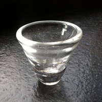 Hand Blown Shot Glass, crafted in clear glass.