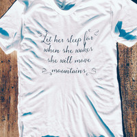 She will move mountains. - American Apparel Tshirt