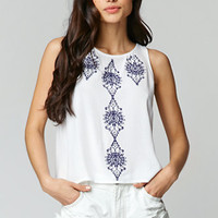 LA Hearts Embroidered Open Back Tank at PacSun.com