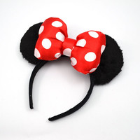 1 piece 2015 fashion New cartoon cute Hair Sticks Headwear Bow Hair bands minnie mouse ears headband for women girls lady baby