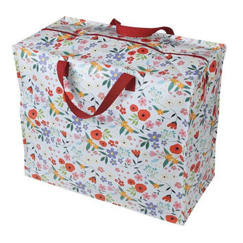 Recycled Jumbo Storage Bag Summer Meadow - made from recycled plastic bottles with a zip fastening