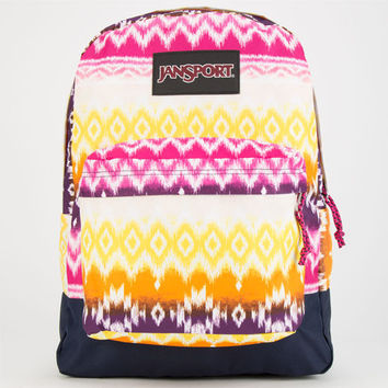 Jansport Superbreak Backpack Cyber Pink Tribal Ombre One Size For Women 24767095701