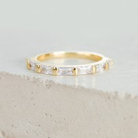 Baguette Eternity Band - Gold