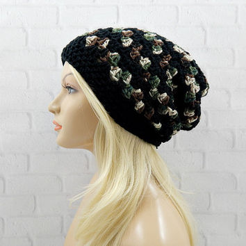 Shop Camo Crochet Beanie on Wanelo a52cb296571