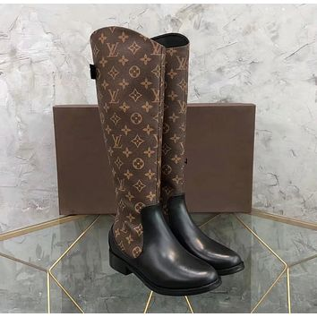 Louis Vuitton LV Women Leather High Boots Shoes