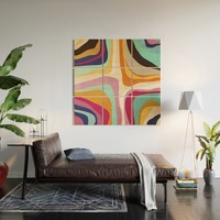 Psychedelic pattern 01 Wood Wall Art by vivigonzalezart