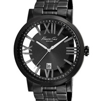 Kenneth Cole Men's Gunmetal Bracelet Watch with Transparent Dial