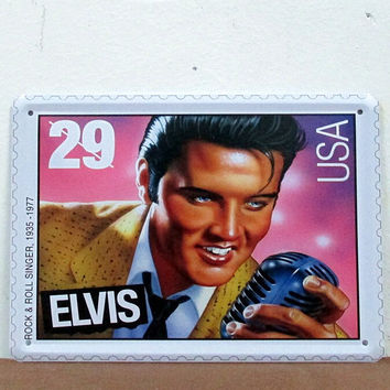 Rock& Roll Singer Elvis Presley Tin Metal Sign Poster Music Zone Decor 15*20CM