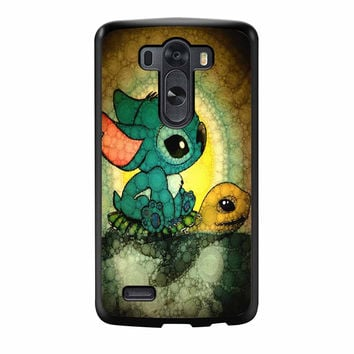 Stitch And Turtle Cute LG G3 Case