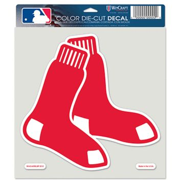 "BOSTON RED SOX LOGO 8""X8"" COLOR DIE CUT DECAL BRAND NEW  SHIPPING WINCRAFT"