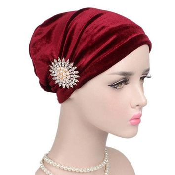 Stretch Turban Hat Beanie Cap