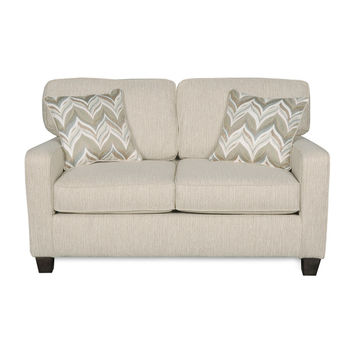 Sofab Austin Almond Love Seat With Two Accent Pillows | Overstock.com Shopping - The Best Deals on Sofas & Loveseats