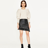 SKIRT WITH METALLIC DETAILS DETAILS