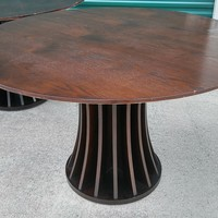 #2467 - Aziz Round Dining Table - Espresso