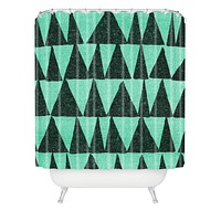 Nick Nelson Analogous Shapes 1 Shower Curtain