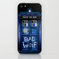 Tardis doctor who with Bad wolf graffiti iPhone 4 4s 5 5s 5c, ipod, ipad case iPhone & iPod Skin by Three Second