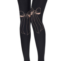 PapillonTie Print Tights Black - Zohara - Free Shipping
