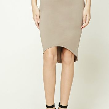 High-Low Bodycon Skirt