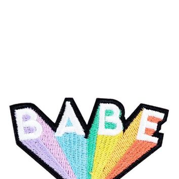Rainbow Babe Iron On Patch by Skinny Dip London