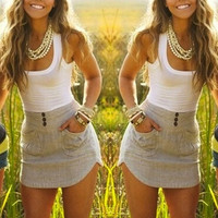2015 Women Summer Style Pocket Grey Dress  Casual Mini BodyCon Dresses  vestidos = 5739032065