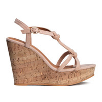 H&M Wedge-heeled Sandals $29.99