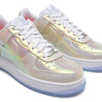 PEAPON Nike Air Force 1 704517-100 Golden For Women Men Running Sport Casual Shoes Sneakers