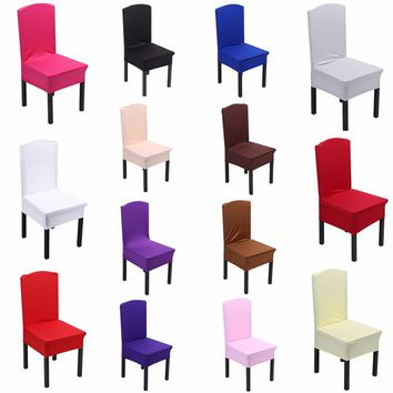 Colors Dining Chair Covers  Spandex Strech Elastic Chair Covers For Wedding  Party Home Deco Cover on a Chair 40-60cm