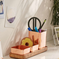 Copper Trio Desk Organizer - Urban Outfitters