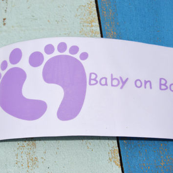 Baby Feet Baby on Board Car Decal/ Vinyl Decal