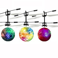 Induction flight flashing ball helicopter aircraft toy brinquedos Induction flying crystal ball toys for boy No remote controler