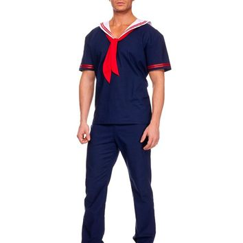 MOONIGHT Arrival Couples Halloween Masquerade Game Uniforms Navy Blue Sailor Suit Sailor Cosplay Costumes