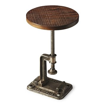 Industrial Chic Steel and Recycled Wood Accent Table by Butler Specialty Company 2539025