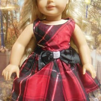 "American girl doll clothes ""Perfectly Plaid"" (18 inch)  OOAK"
