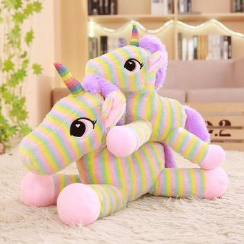 1pc 30-50cm Rainbow Unicorn Plush Toys Cute Unicorn for Kids Baby Doll Stuffed Kawaii Soft Plush Toys for Girls Valentine Gift