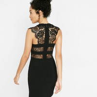 Petite Sleeveless Lace Yoke Sheath Dress