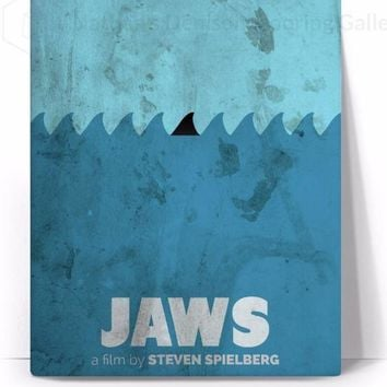 Jaws Movie Poster Canvas