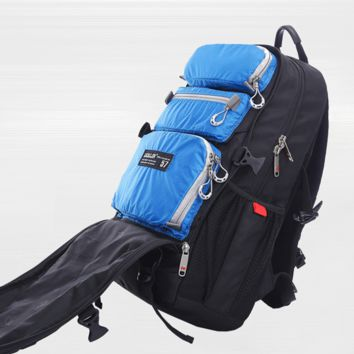Women and Men 22L Water-proof Multi-Pocket Travel Backpack Ruckpack