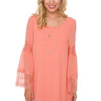Josette Shift Dress - Coral