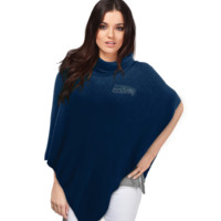 Seattle Seahawks Crystal Knit Poncho