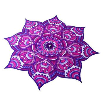 DCCKJG2 Mandala Tapestry Indian Wall Hanging Bohemian Bedspread Throw Home Decor-Purple