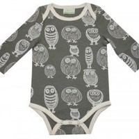 "nohi kids ""Hoot"" Bodysuit"
